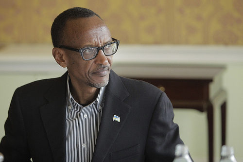 H.E. President of Rwanda, Paul Kagame at the 9th Broadband Commission Meeting, Dublin 22-23 March 2014.