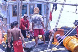 タイの漁船で働く移民労働者