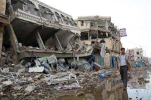 紛争による被害で荒れ果てたイエメン