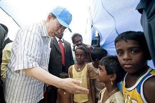 スリランカを訪問した国連事務総長(2009)