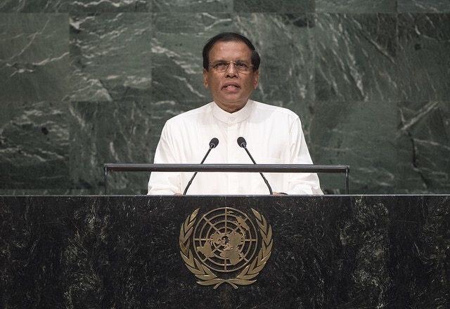 スリランカ大統領のマイトリパラ・シリセーナ(2015)