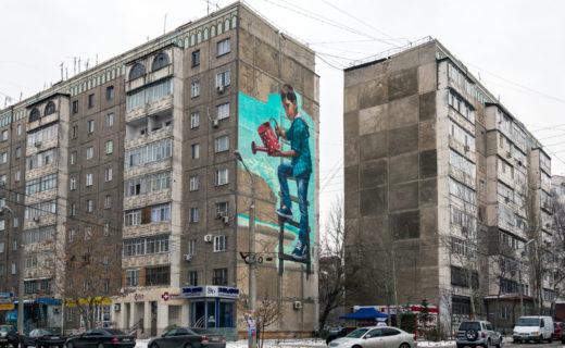 ソ連時代のアパート(キルギス・ビシュケク)。写真:Philip Mowbray / Shutterstock.com