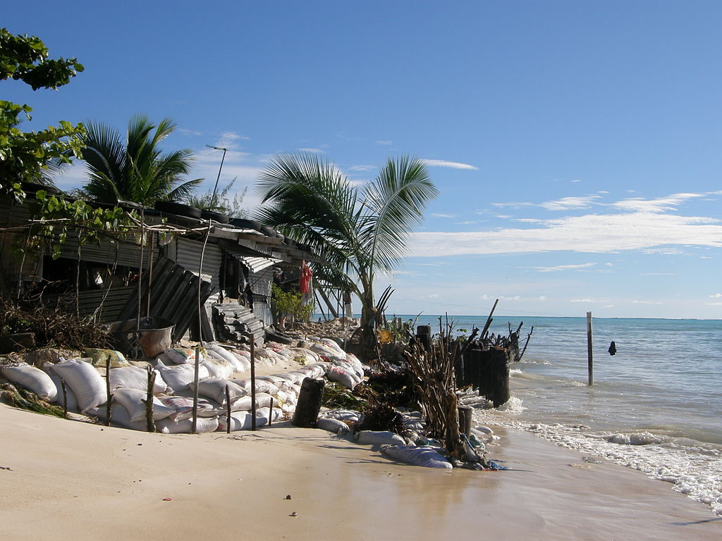 Impact of sea level rise in South Tawara, Kiribati. Photo by Government of Kiribati (CC-BY-3.0).