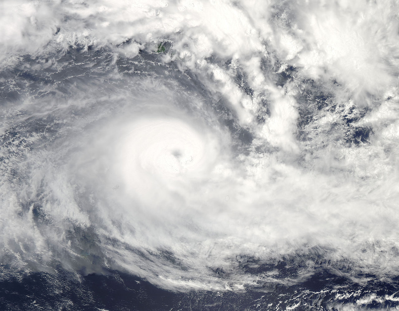 Cyclone Winston (2016). Photo by NASA.