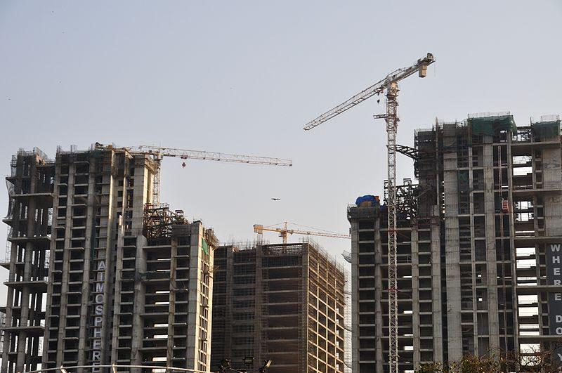 建設現場(インド:コルカタ、2015年)