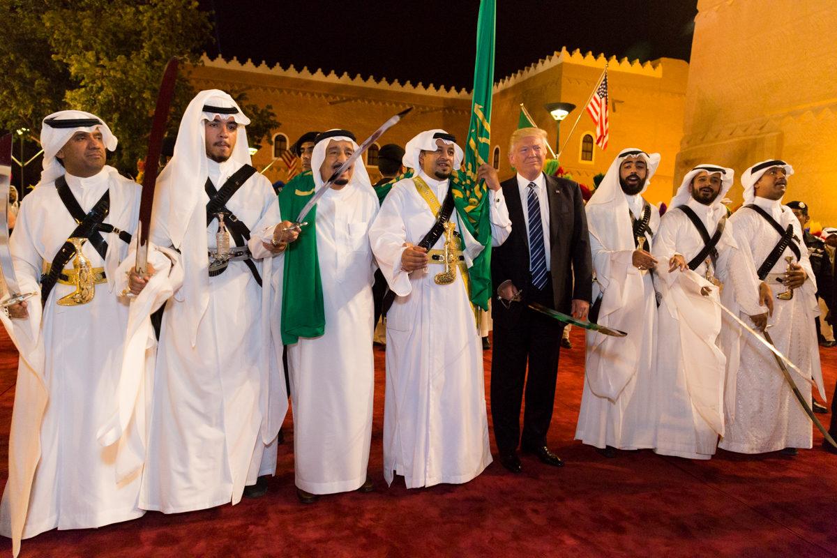 歓迎を受けるトランプ大統領(サウジアラビア)