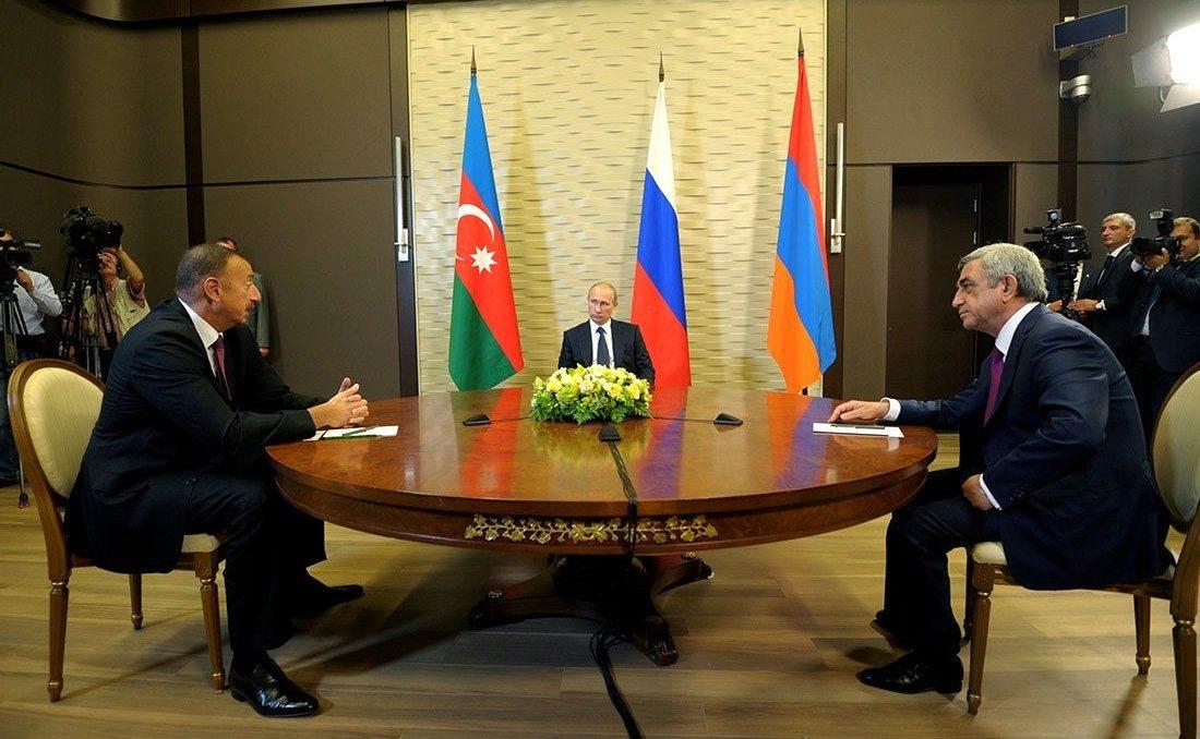 ロシアの仲介による会合の様子