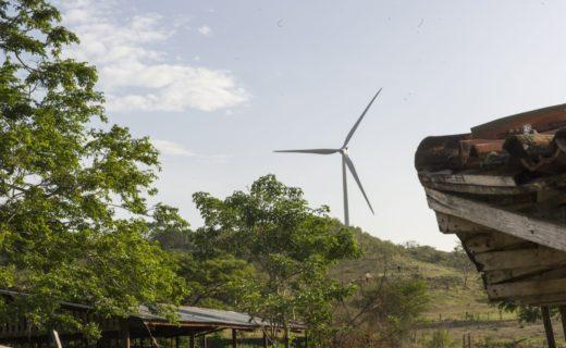 リバス地域付近の風力発電所