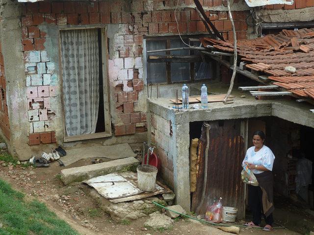 Roma housing in Vranje, Serbia