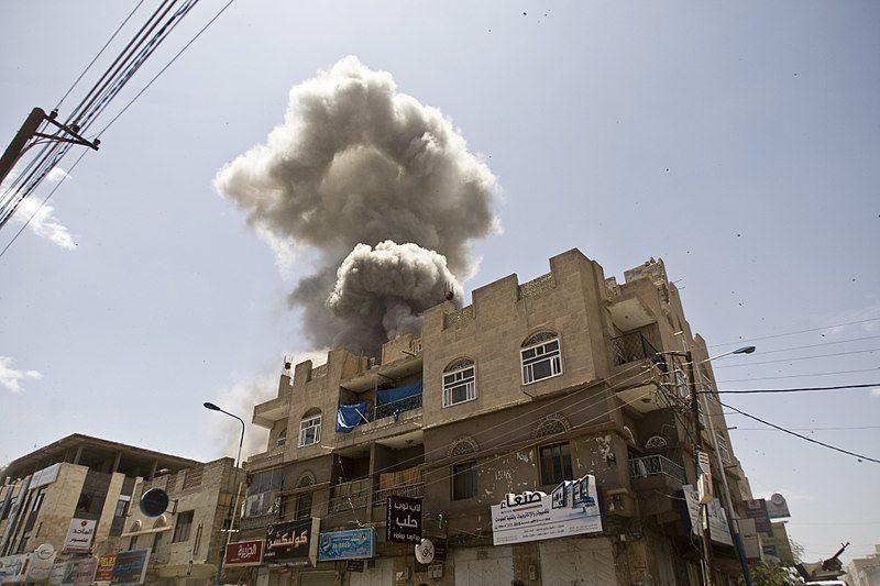 サウジアラビアによって空爆されるイエメンの首都、サナア (写真:fahd sadi /Wikimedia Commons [CC BY 3.0](https://creativecommons.org/licenses/by/3.0/))