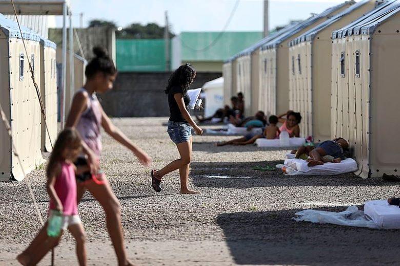 ブラジルの難民キャンプ