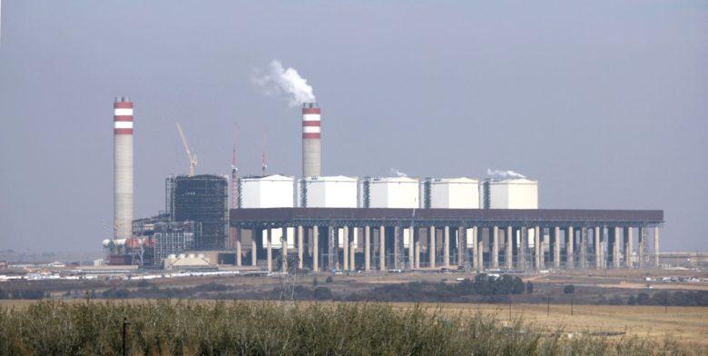 南アフリカのクシレ石炭火力発電所